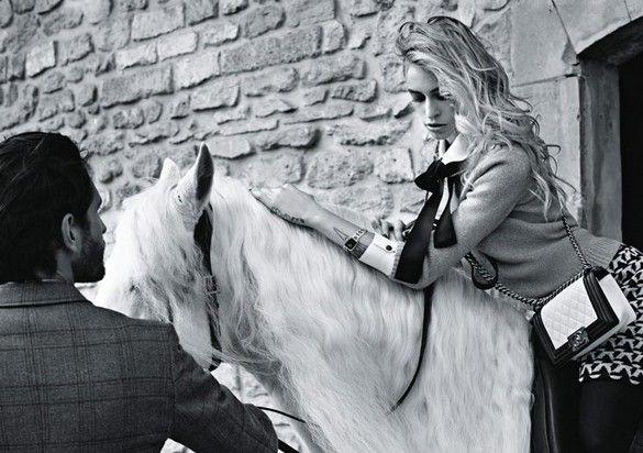 "Alice Dellal & Jake Davies by Karl Lagerfeld for Chanel ""Boy"" handbags"