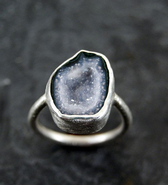 Geode Ring in Sterling Silver