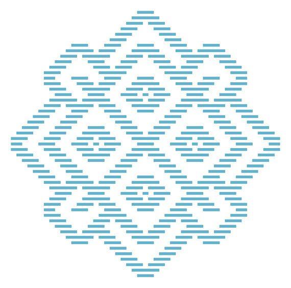 Kogin Embroidery Pattern: QuarkBeast Shield
