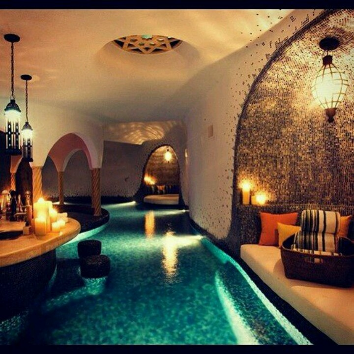 Indoor basement swimming pool dream home pinterest for How much is an indoor swimming pool