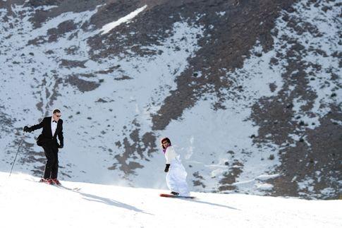 Skier – Snowboarder Wedding - wat een combinatie!