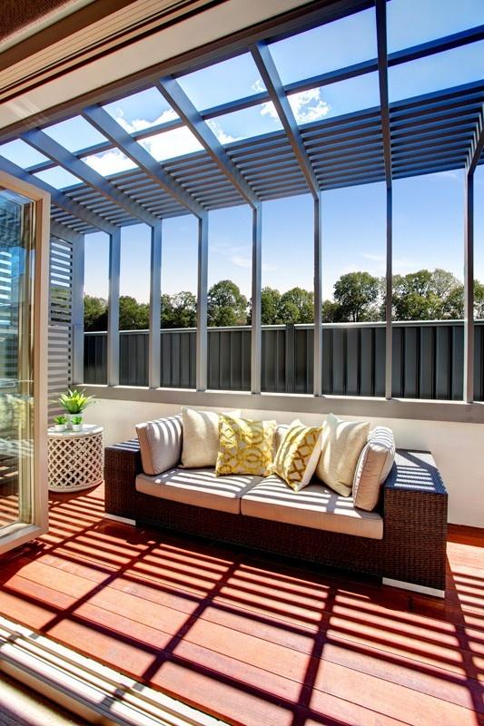 Wonderful outdoor area. McDonald Jones Manaco One display home at Brooks Reach. #outdoorliving #deck #mcdonaldjoneshomes