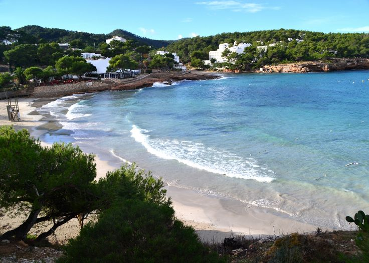 Relaxing on Portinatx beach in #Ibiza, #Spain.