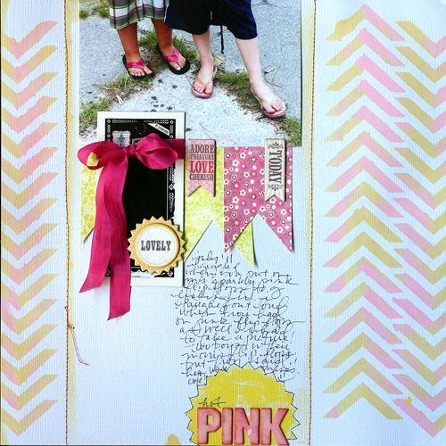 Another one from Doris Sander, love the pink and yellow combo.