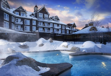 A Luxury Traveler's Bucket List: Take a dip while it's snowing outside at the Westin Trillium House Blue Mountain in Canada