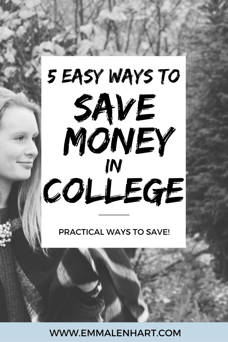 College can be extremely expensive. Check out EmmaLenhart.com to find 5 easy ways to save money and manage your money in college! Save money and make money online during college