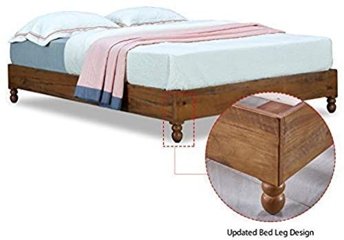 New Musehomeinc 12 Inch Solid Wood Bed Frame Rustic Style Eliminates The Need Boxspring Natural Finish Full Online Shopping Seetopstar In 2020 Solid Wood Bed Frame Wood Beds Solid Wood Bed