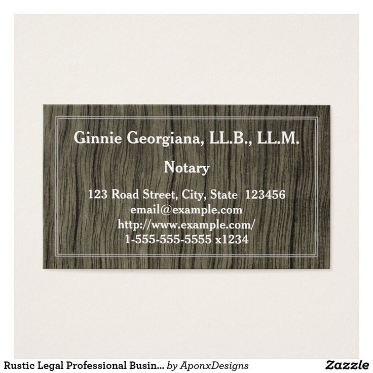 Rustic Legal Professional Business Card