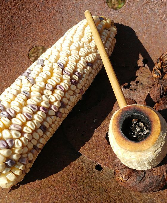 how to make corn cob smoking pipe
