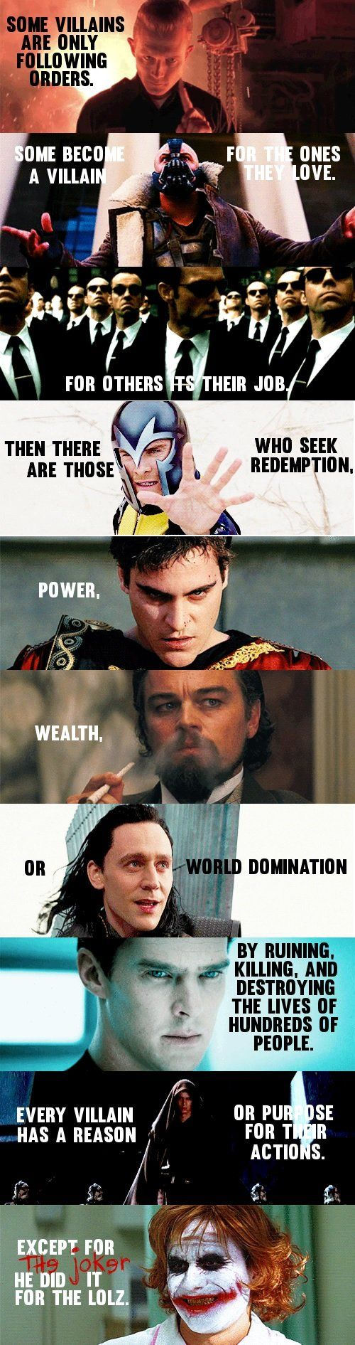 Every villain has a reason... Then there's the Joker.