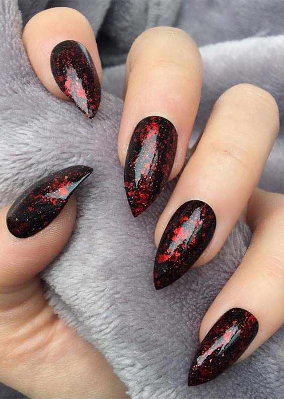 cutest red and black stiletto