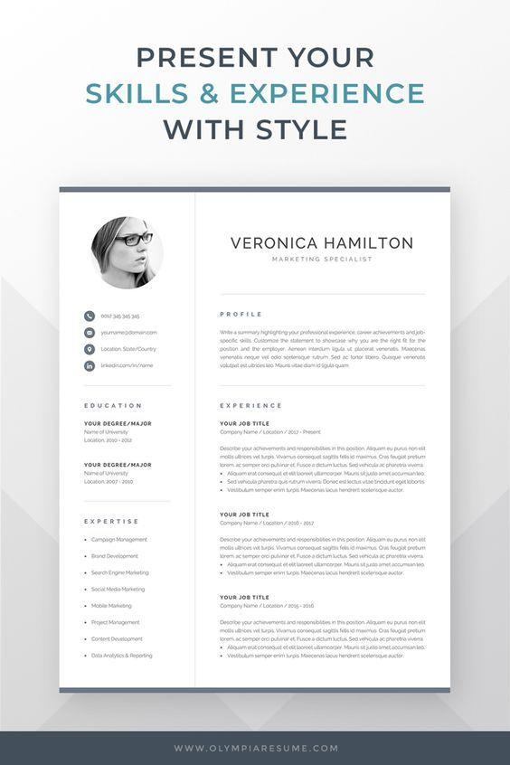 Resume template professional microsoft word creative resume