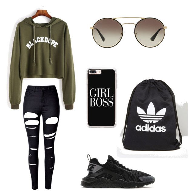 #Boyfriend style by angel1324 on Polyvore featuring polyvore, fashion, style, WithChic, NIKE, adidas, Casetify, Prada and clothing