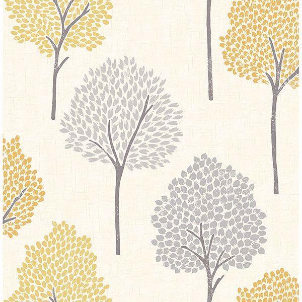 Andover Mustard Eula Wallpaper Mustard Wallpaper Wallpaper Samples Forest Wallpaper
