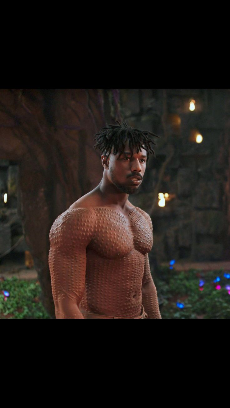 Michael B Jordan in Black Panther was distracting #handsome #hot #sexy #celebrity #hunk