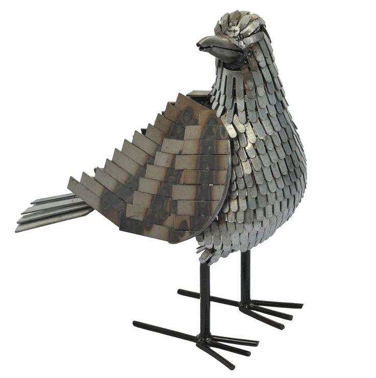 Seagull metal bird sculpture