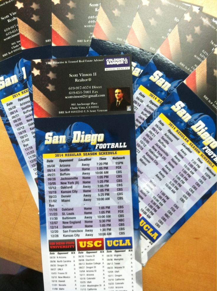 Football season is coming up! Let me know if you would like me send a San Diego Chargers Schedule to you today! Also includes All Monday night games and times and SDSU, USC, UCLA schedules! 619-917-0574 #HomeRocks #sandiego #chargers #football #calendars #realestye #coldwellbanker #fun #fall #games #schedules #bolts