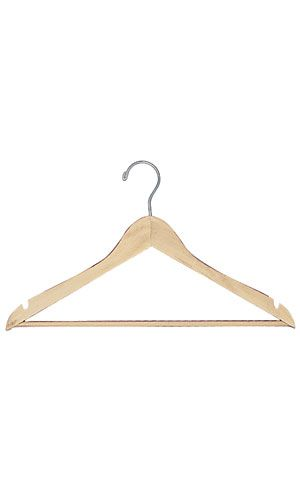 """17"""" Natural Wooden All Purpose Hangers"""