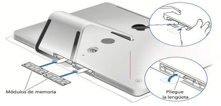 Ampliar Memoria Uno Mismo en Mac OS X, no es difícil y menos en un iMac, que será quitar un tornillo o placa según modelos y cambiar módulos de memoria