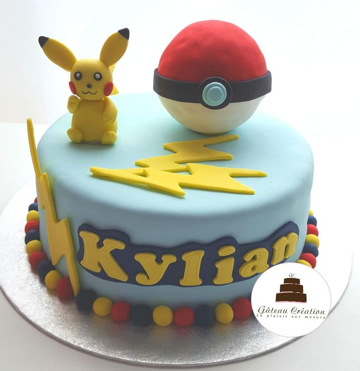 Gateau d'anniversaire sur le thème des Pokemon avec son pikachu en sucre  Livraison de nos gâteaux sur toute la France  !   Commandez dès aujourd'hui votre gâteau d'anniversaire sur notre site internet www.gateaucreation.fr  Gâteau création  9, place des Fauvelles  92400 courbevoie  Tel: 01.43.34.15.40