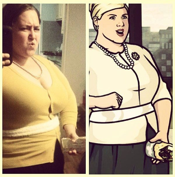 OMG these are so good.   Let's take a look at the best of the cosplays of Archer's Pam Poovey before Amber Nash awards someone her dolphin.