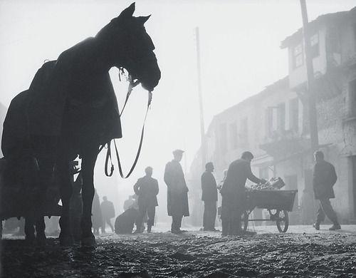 by Costas Balafas Open-air market, Ioannina, Greece, 1957.