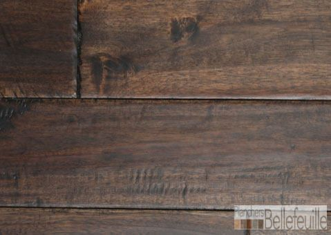 Plancher bois franc exotique Acacia Handscraped Venice Silicy  #Acacia #plancherboisfranc