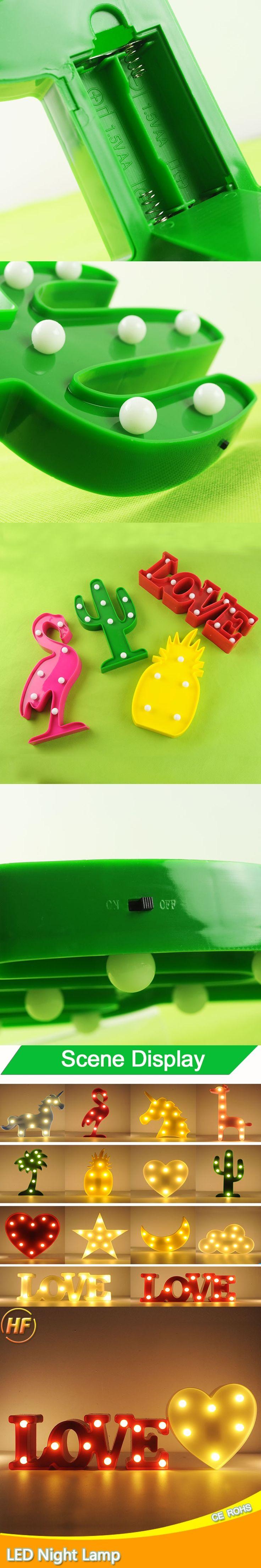 Coconut Heart Lamp light Novelty Luminaria 3D LED Night Light Battery Heart Powered Lamp Bulb Nightlight For Children Decor