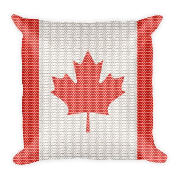Canadian Knitted Style Pillow