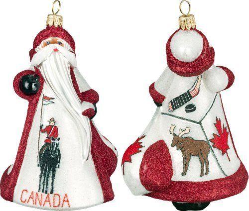 Glitterazzi International Canadian Santa Ornament