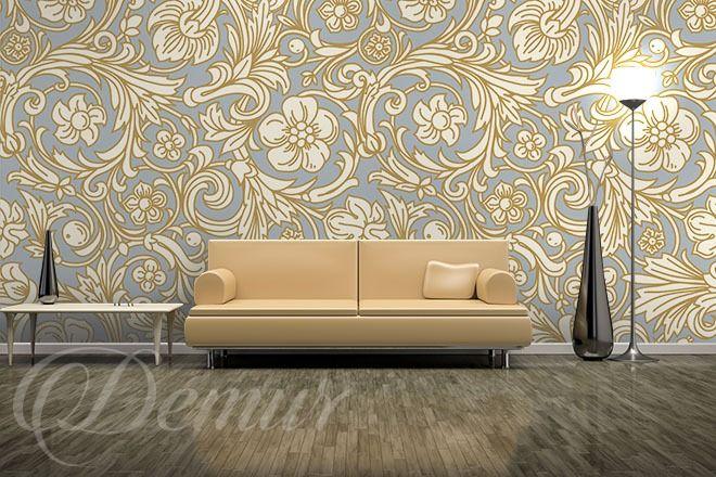 Kwiecisty-wzor-styl-klasyczny-fototapety-demur