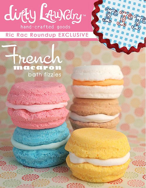 French macarons bath fizzies by Jeanee *Dirty Laundry*, via Flickr