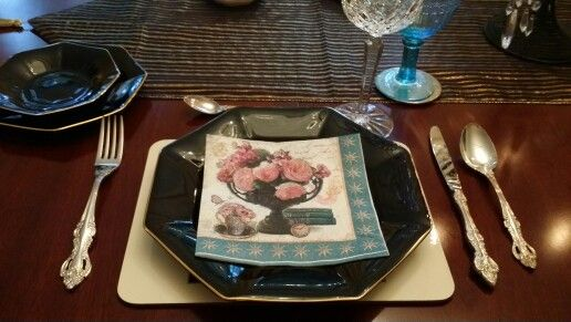 Table settings at home :)