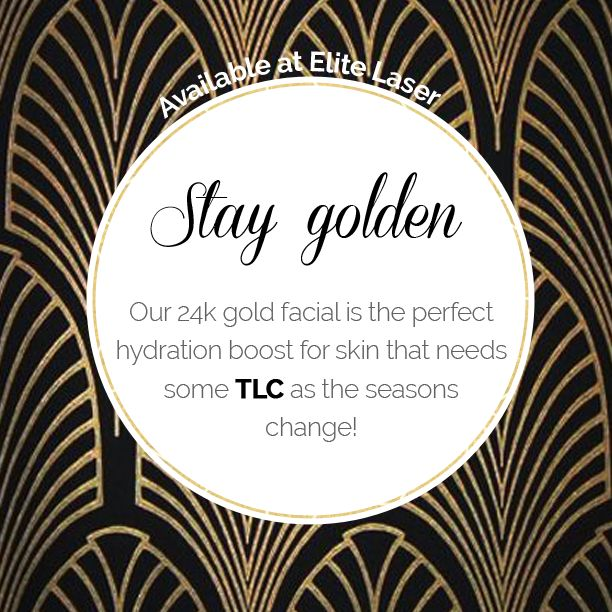 Unwind, relax & pamper yourself while enjoying a real 24k gold facial! Formulated with collagen, hyaluronic acid & real gold - this facial will help restore your skin with vital nutrients and give your skin a much needed boost for fall!