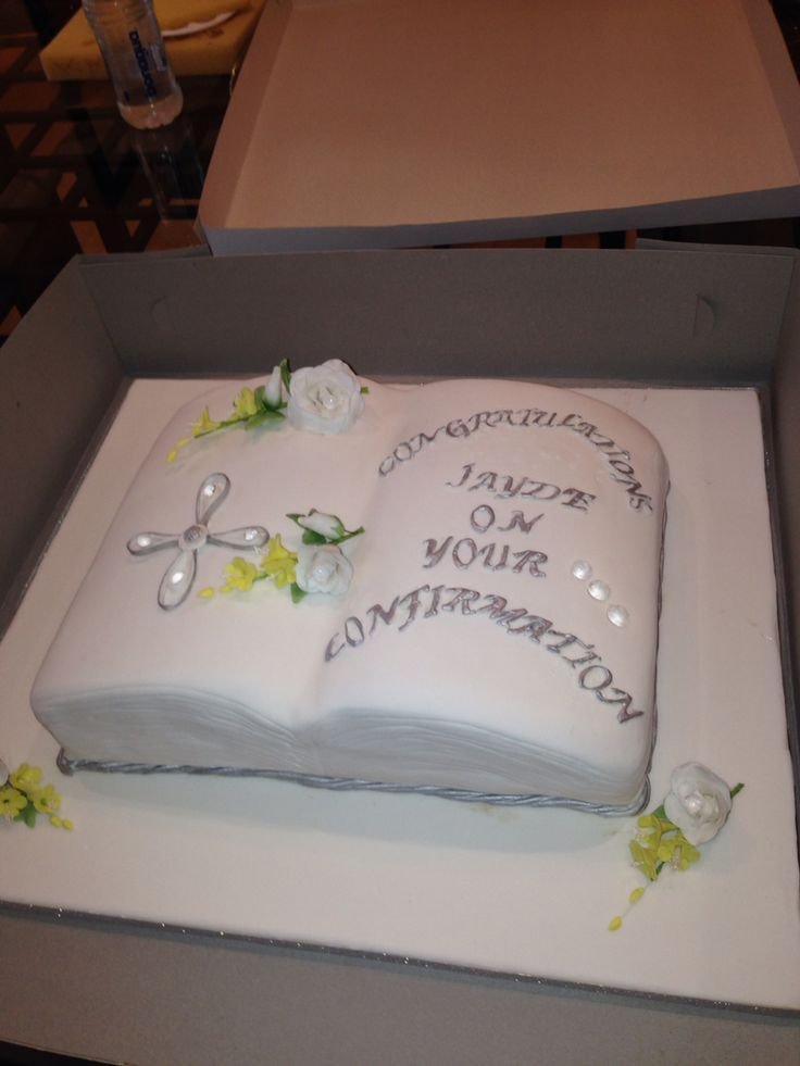 Confirmation cake made by Van's Cakes