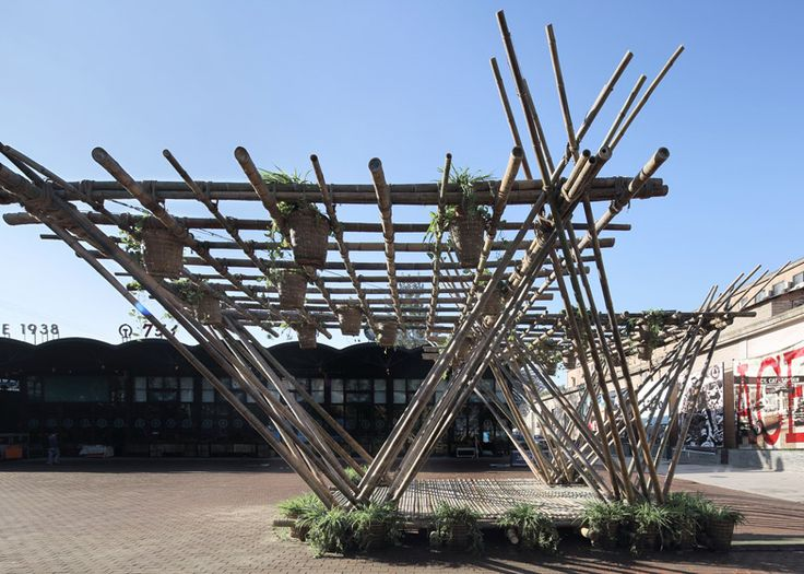 Penda's bamboo pavilion is a sustainable modular housing system
