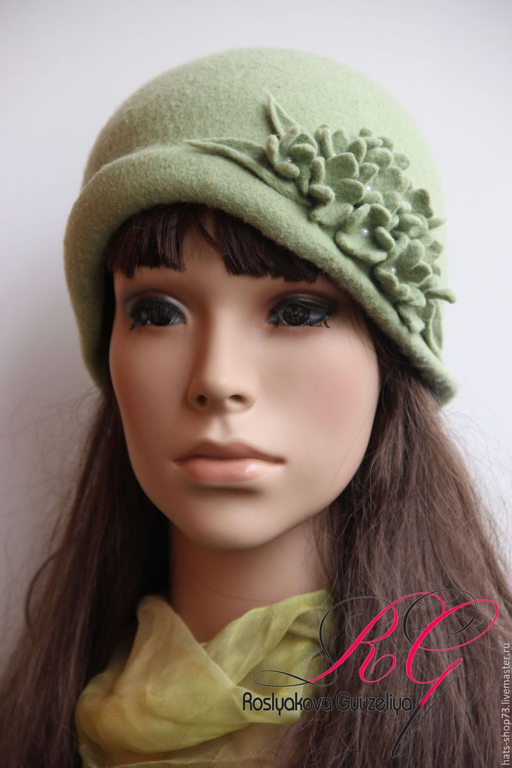 Купить Шляпка валяная Напоминание о лете - однотонный, валяная шляпка, шляпа…