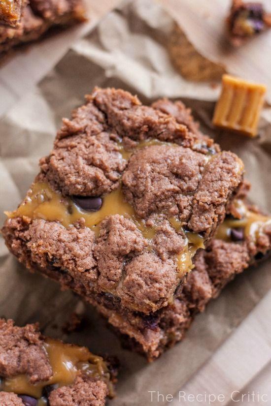 Caramel brownies... Yes, please.