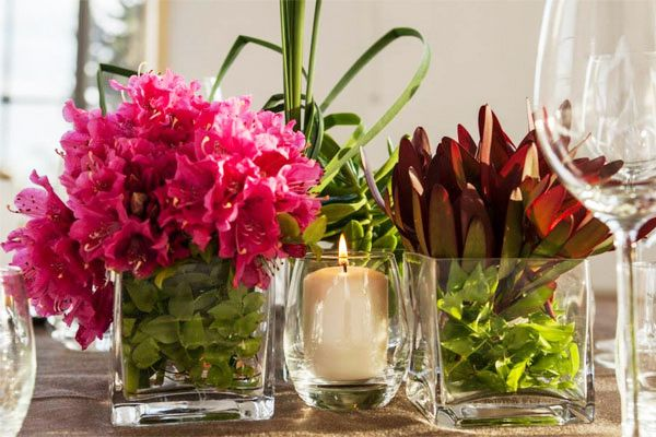 Floral Pink & Green   Candel Ambience #flowers #decoracao #decoration #candle #green #verdeaosmolhos #verde #molhos #casamentos #noivas #velas #flores #decoração #vam #pink