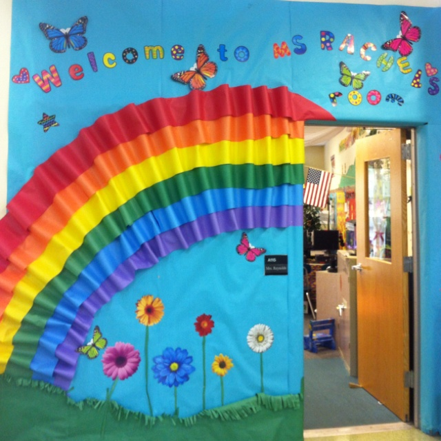 Classroom Decoration Church ~ Rainbow bulletin board pinterest rainbows and