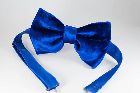 Mens Bow ties Big bow tie Velvet Bow Tie Oversized bow tie Large BowTie Wedding BowTie Butterfly Bow Tie Royal blue Bow tie Tom Ford bowtie