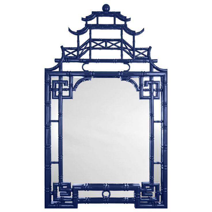 Barclay Butera for Mirror Image Home Pagoda Mirror Blue