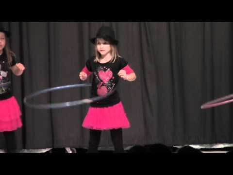 CUTE Girls Perform Hula Hoop Dance in Talent Show - YouTube