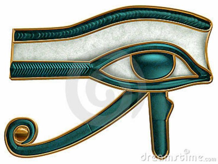 Egyptisch Oog Van Horus Royalty-vrije Stock Afbeelding - Beeld ...