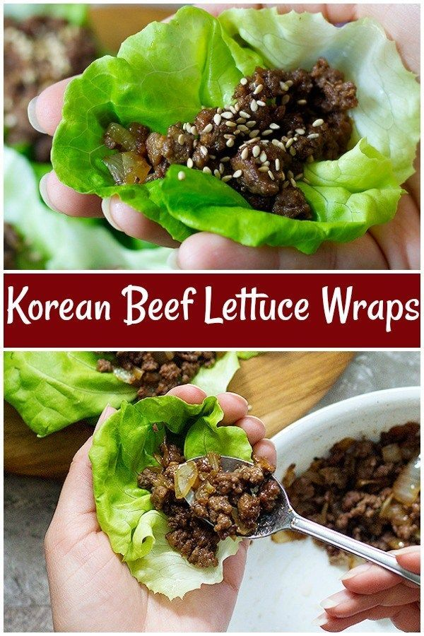Ground Beef Lettuce Wraps Are A Perfect Recipe For Weeknights Because They Re Simple Easy And Can Be Made In Les Beef Lettuce Wraps Lettuce Wraps Beef Recipes