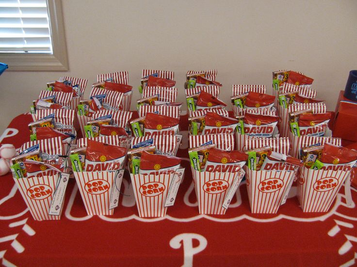 Baseball themed party favor - big hit, pun intended :)