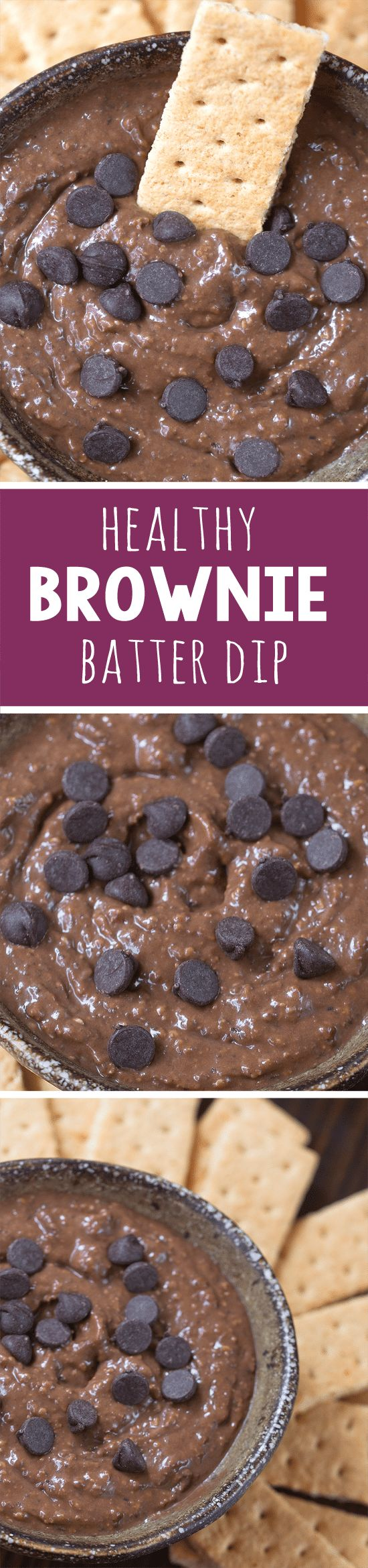 Dark, rich, decadent chocolate brownie batter dip, secretly made with black beans!