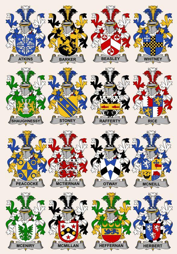 Fighting Irish Coats of Arms