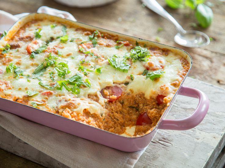 Wenn's schnell gehen muss: Quinoa-Auflauf alla Caprese
