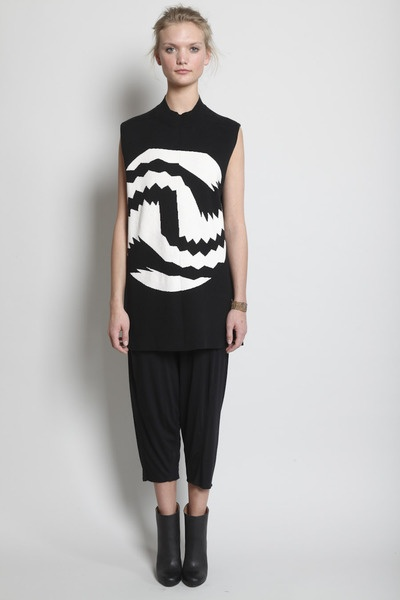 Rick Owens sleeveless luppetto banded knit sweater